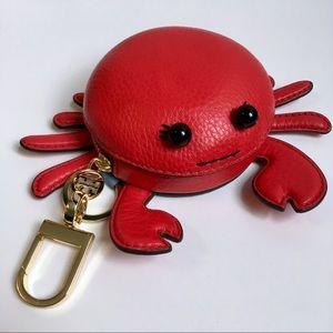 Rare!! TORY BURCH Carl the Crab Coin Purse Charm
